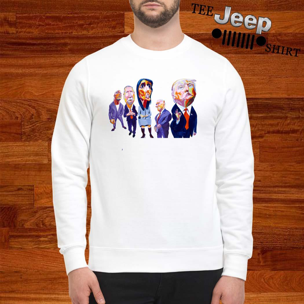 Donald Trump Dwayne Johnson John Kasich Nikki Haley Mike Pence Sweatshirt