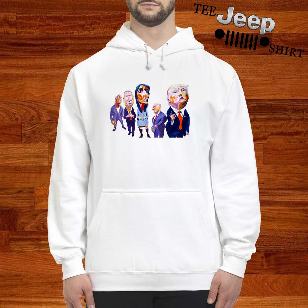 Donald Trump Dwayne Johnson John Kasich Nikki Haley Mike Pence Hoodie