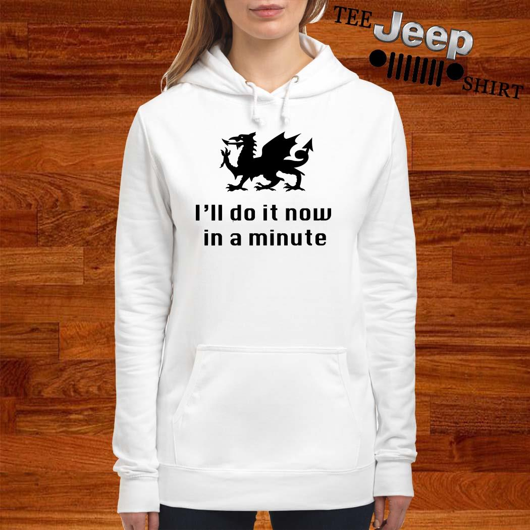 Dragon I'll Do It Now In A Minute Hoodie