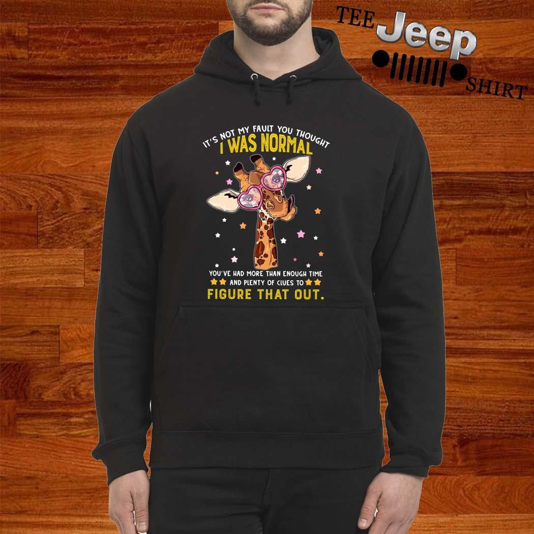 Giraffe It's Not My Fault You Thought I Was Normal Figure That Out Hoodie