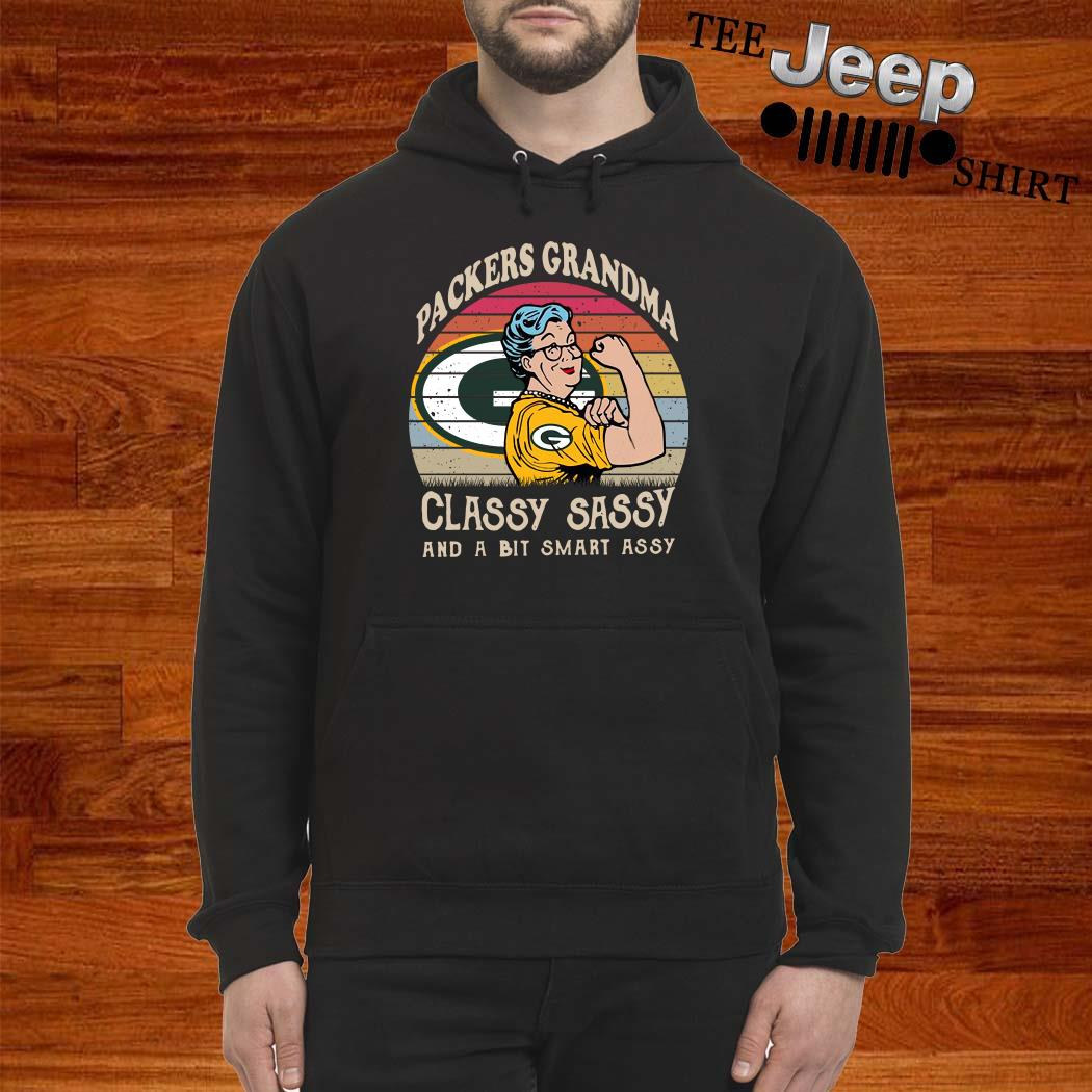Green Bay Packers Grandma Classy Sassy And A Bit Smart Assy Hoodie