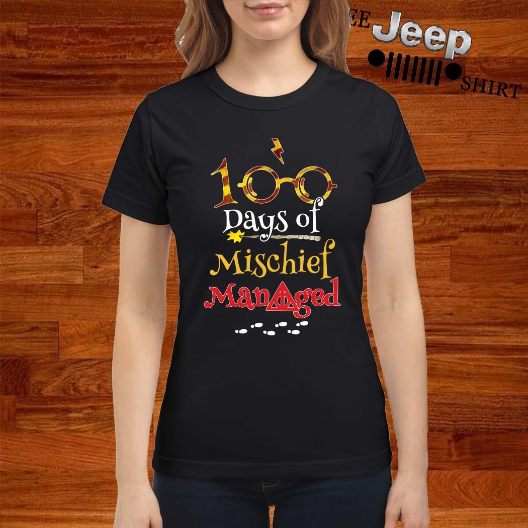 Harry Potter 100 Days Of Mischief Managed Ladies Shirt
