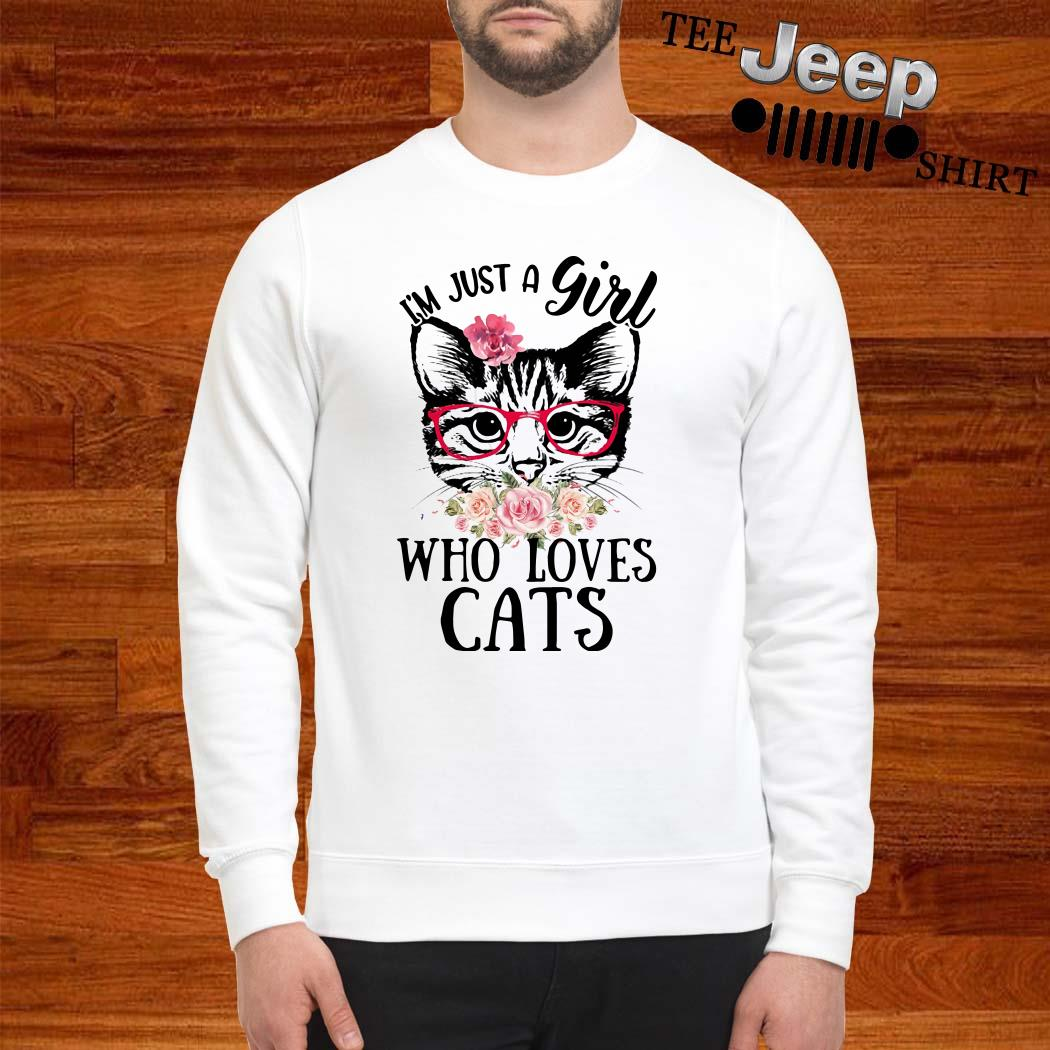 I'm Just A Girl Who Loves Cats Floral Sweatshirt