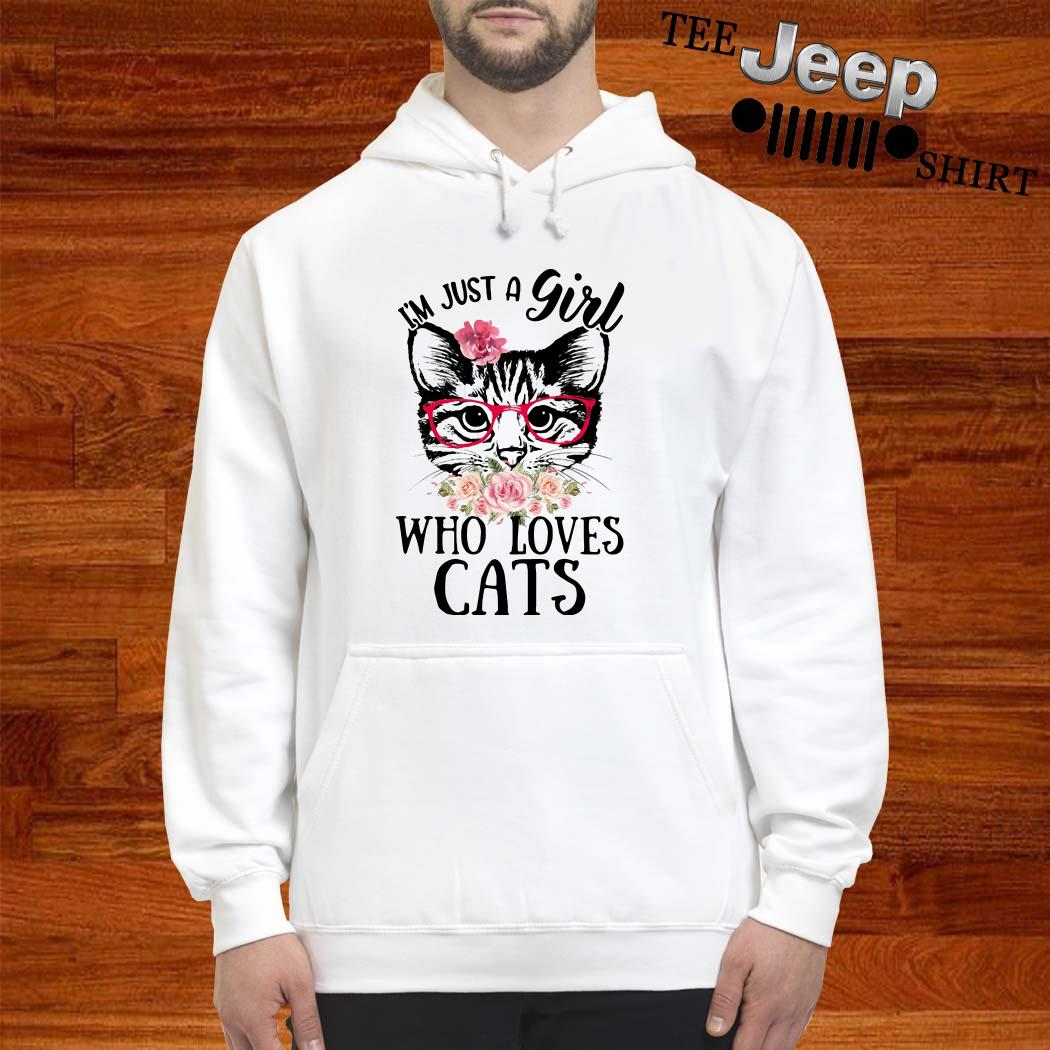 I'm Just A Girl Who Loves Cats Floral Hoodie