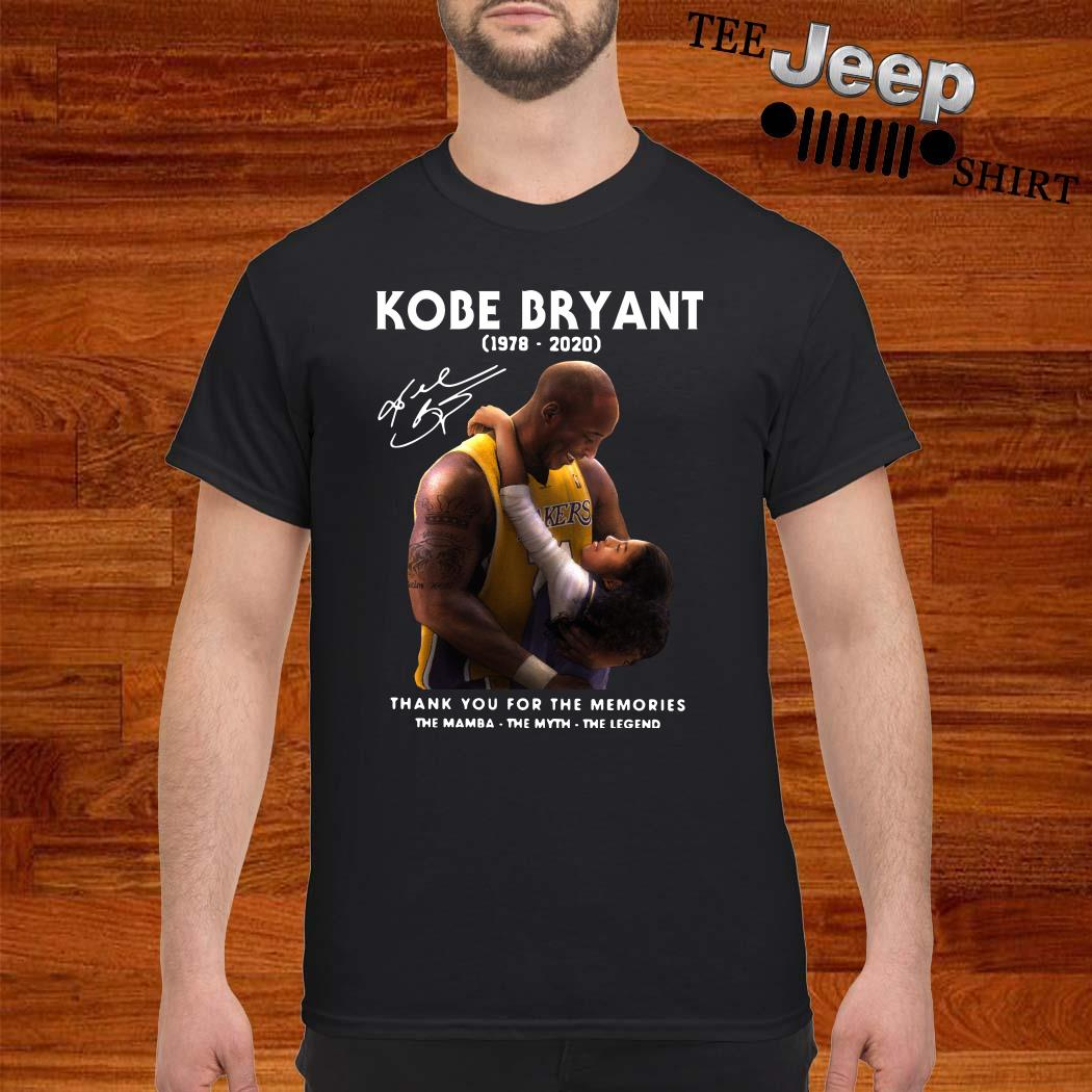 Kobe Bryant And Daughter Thank You For The Memories Shirt