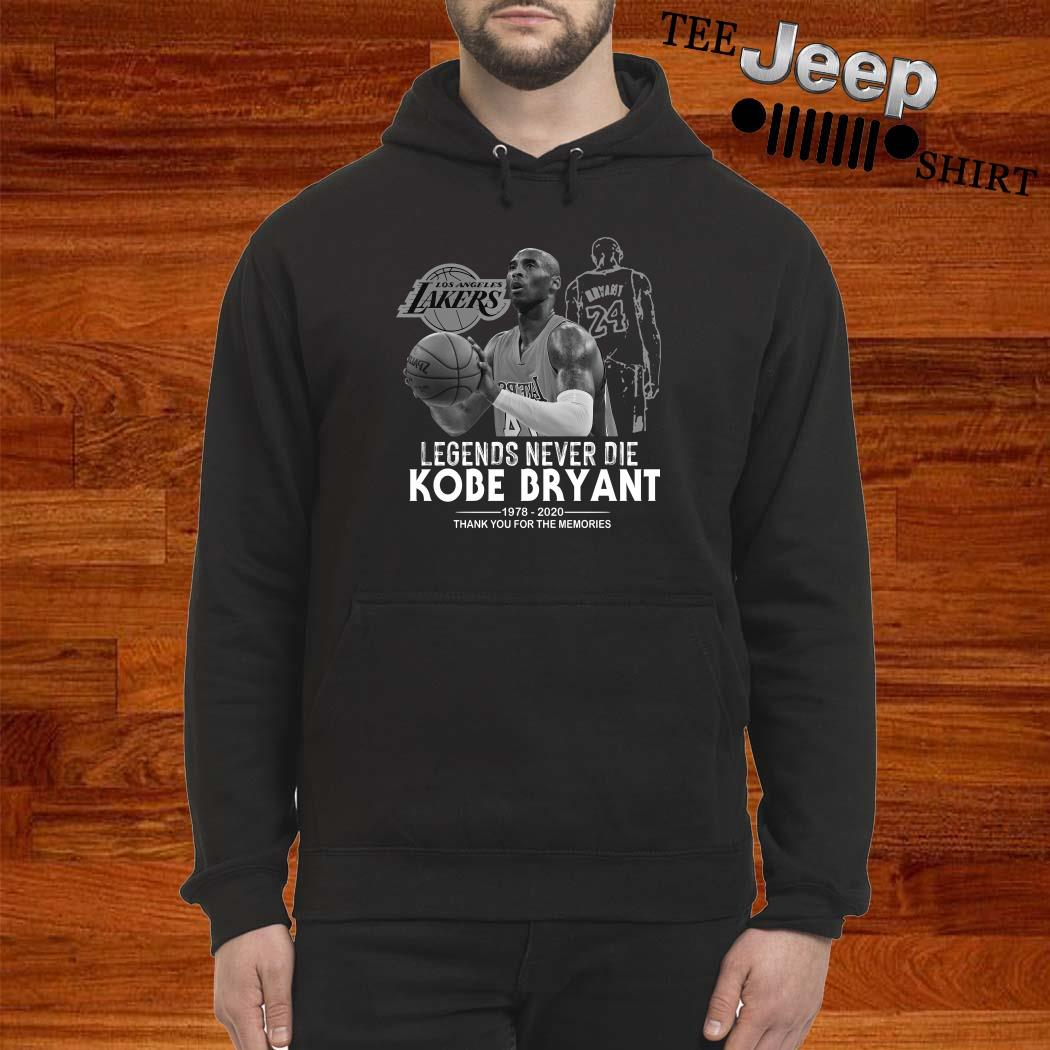 Kobe Bryant Legends Never Die 1978 2020 Thank You For The Memories Hoodie