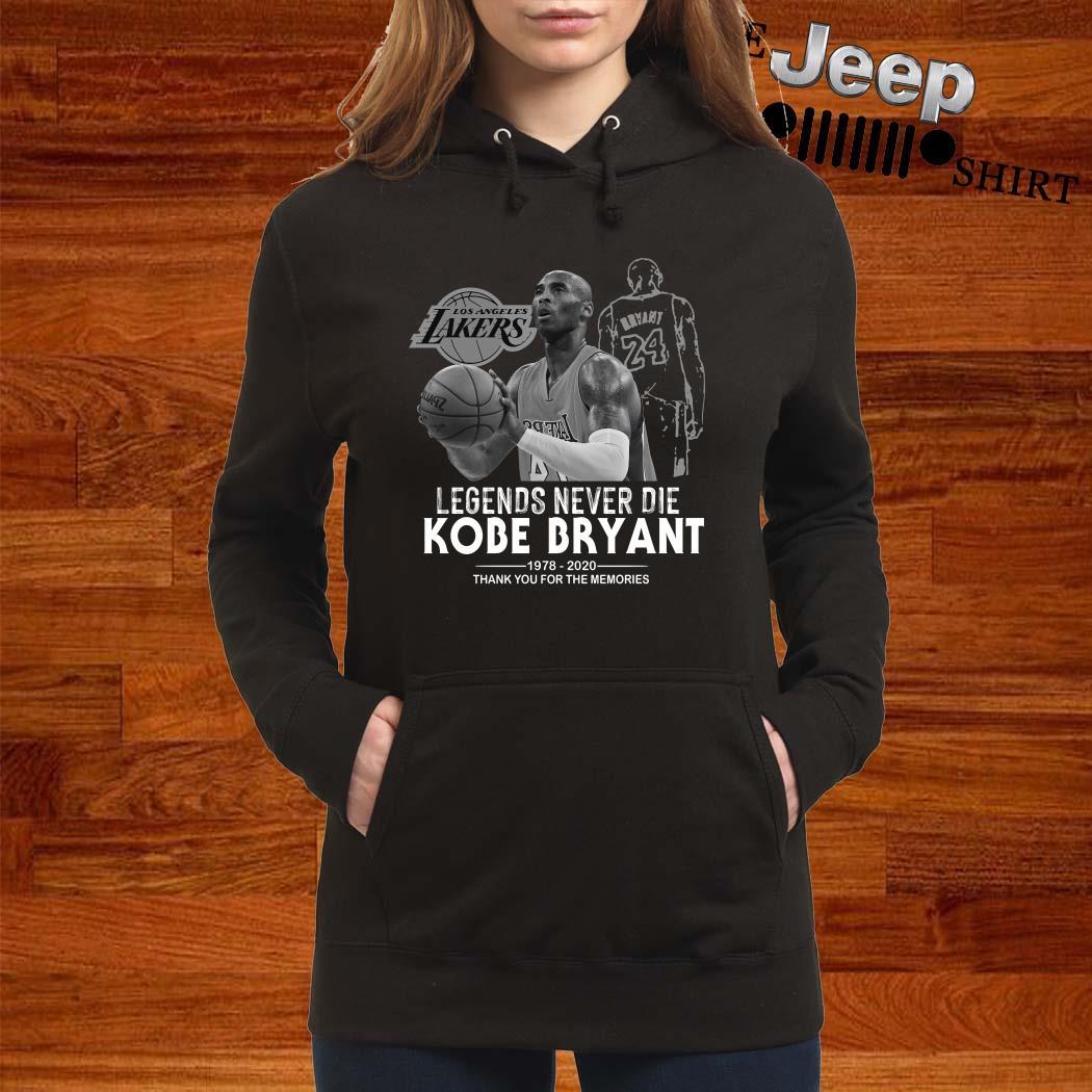 Kobe Bryant Legends Never Die 1978 2020 Thank You For The Memories Women Hoodie