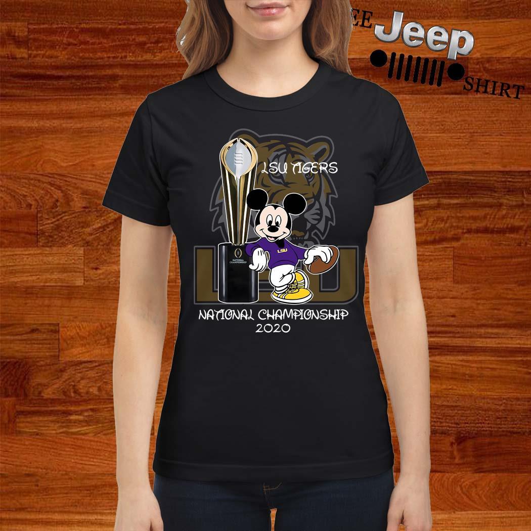 LSU Tigers Mickey Mouse National Championship 2020 Ladies Shirt