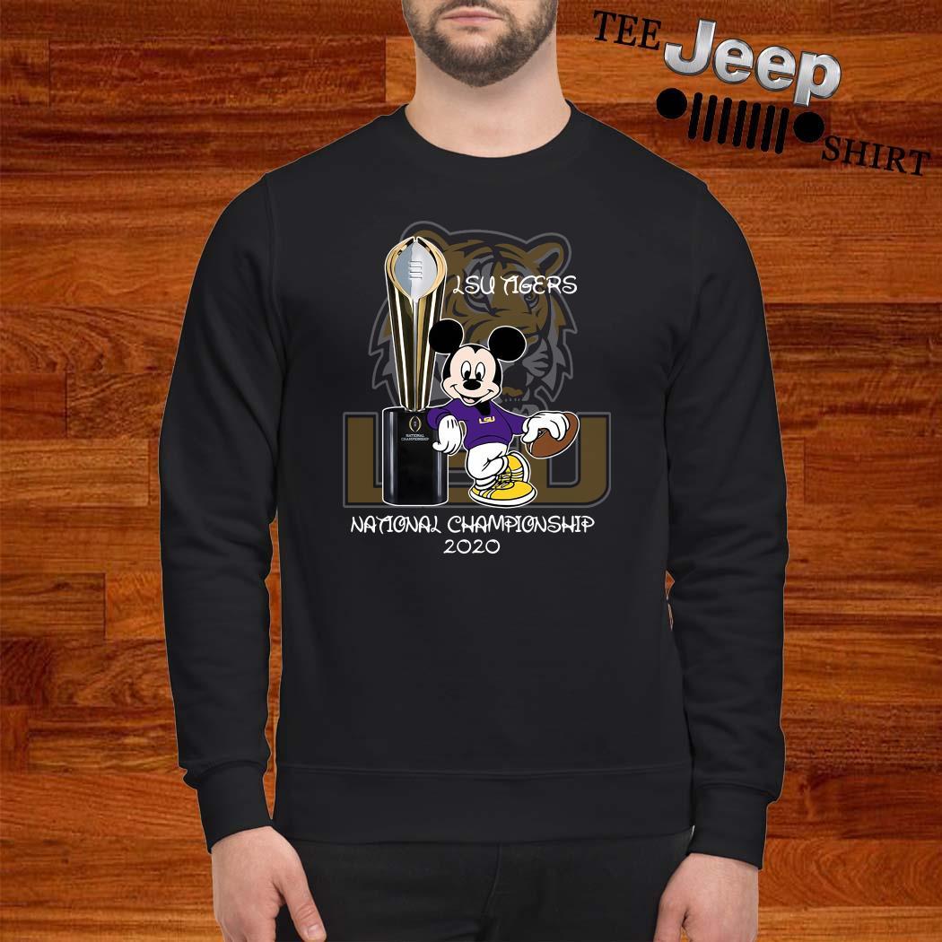 LSU Tigers Mickey Mouse National Championship 2020 Sweatshirt
