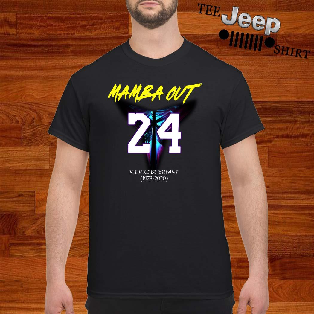 Mamba Out 24 R.I.P Kobe Bryant 1978 2020 Shirt