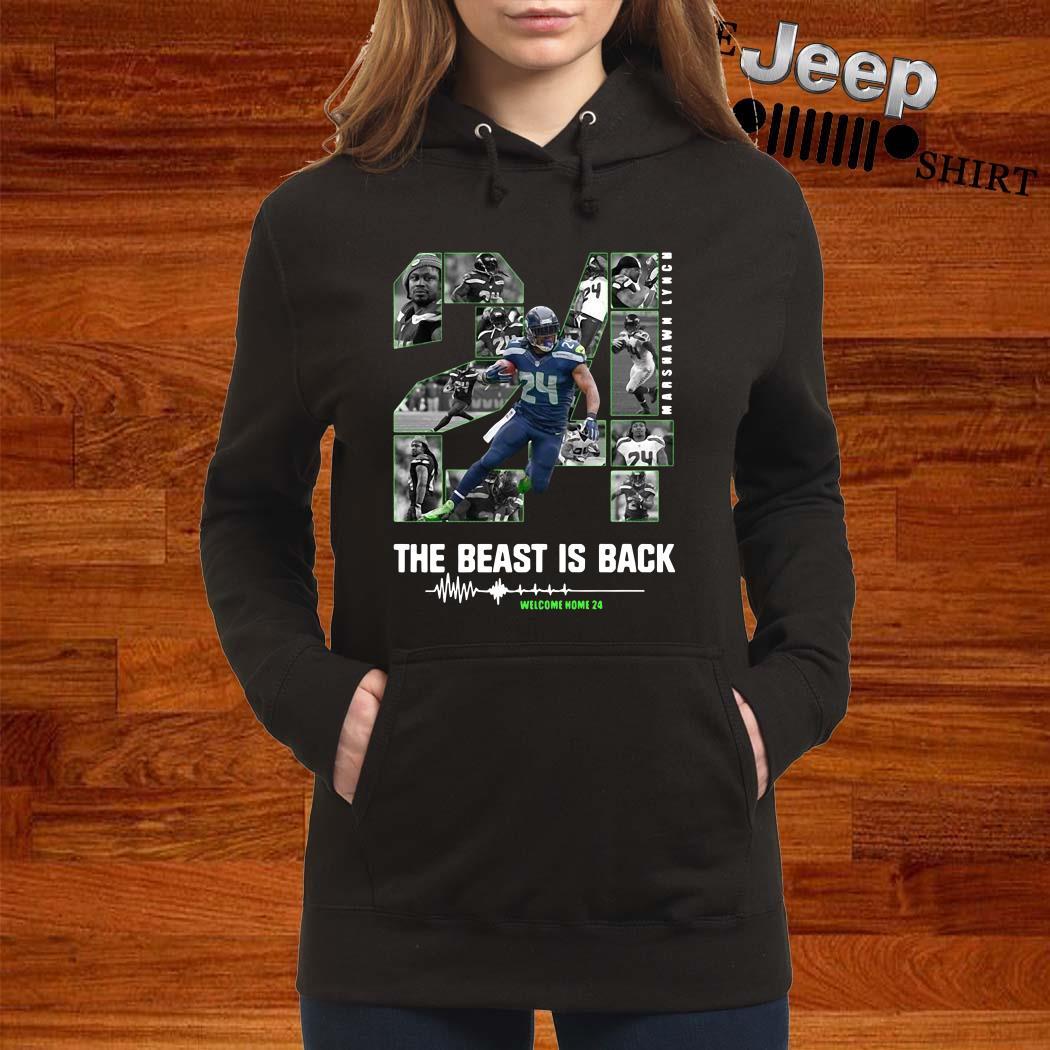 Marshawn Lynch 24 The Beast Is Back Hoodie