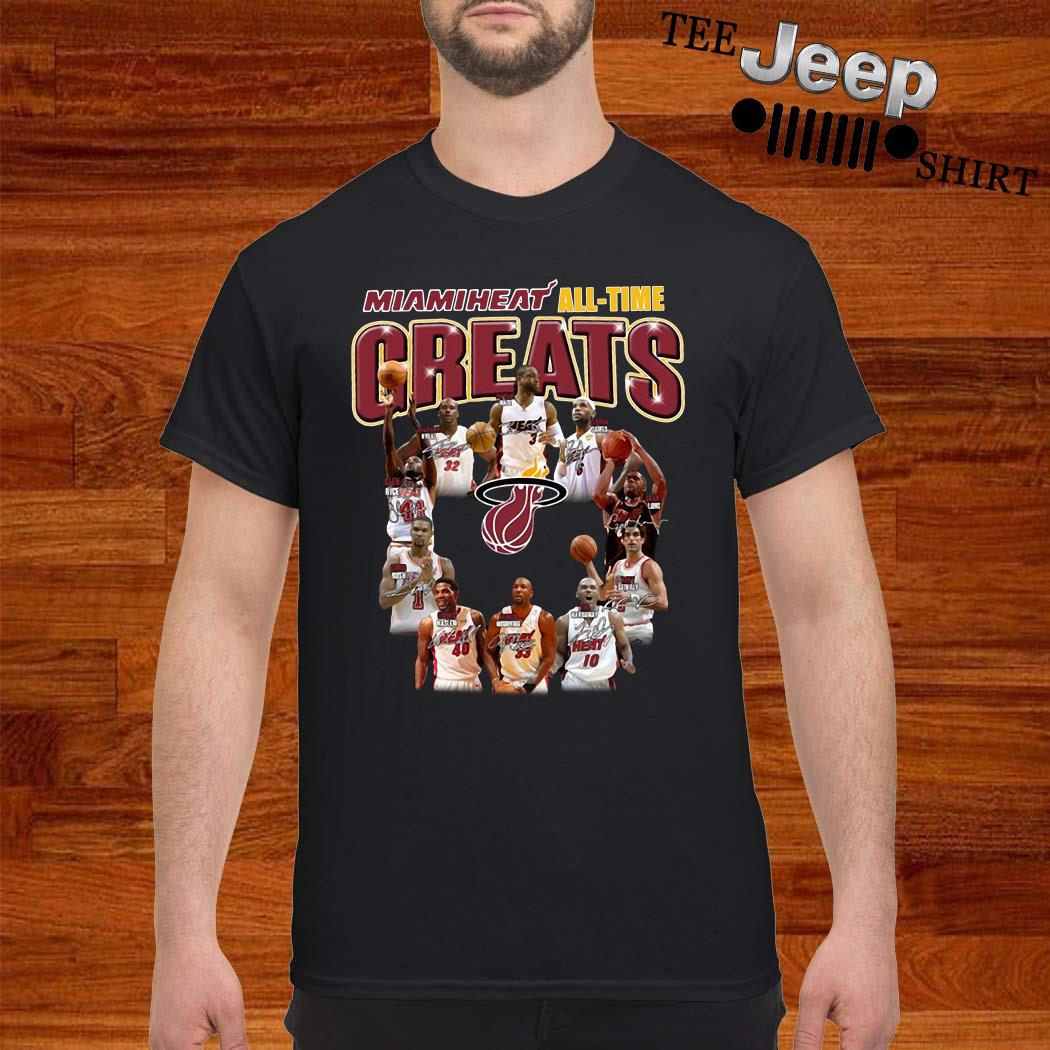Miami Heat All-time Greats Player Signatures Shirt