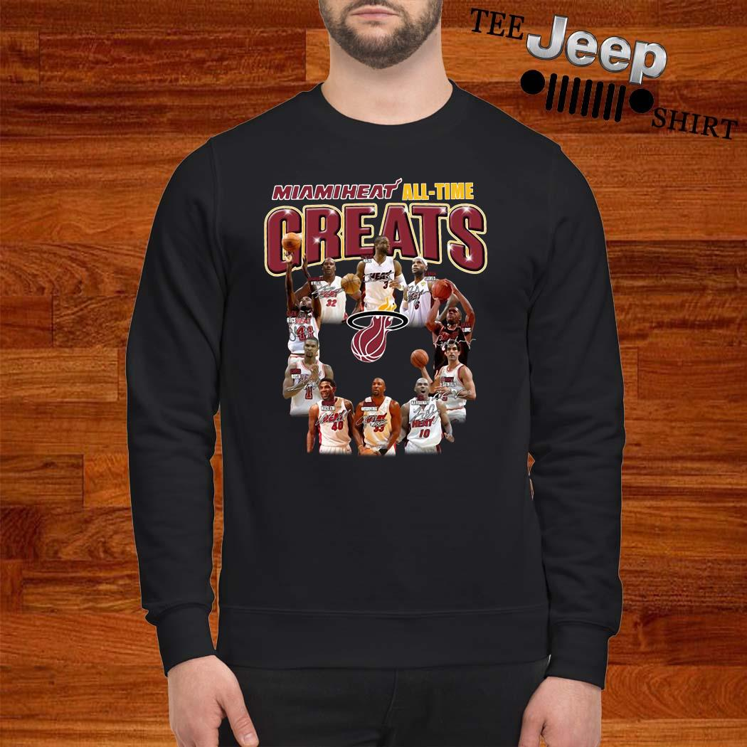 Miami Heat All-time Greats Player Signatures Sweatshirt