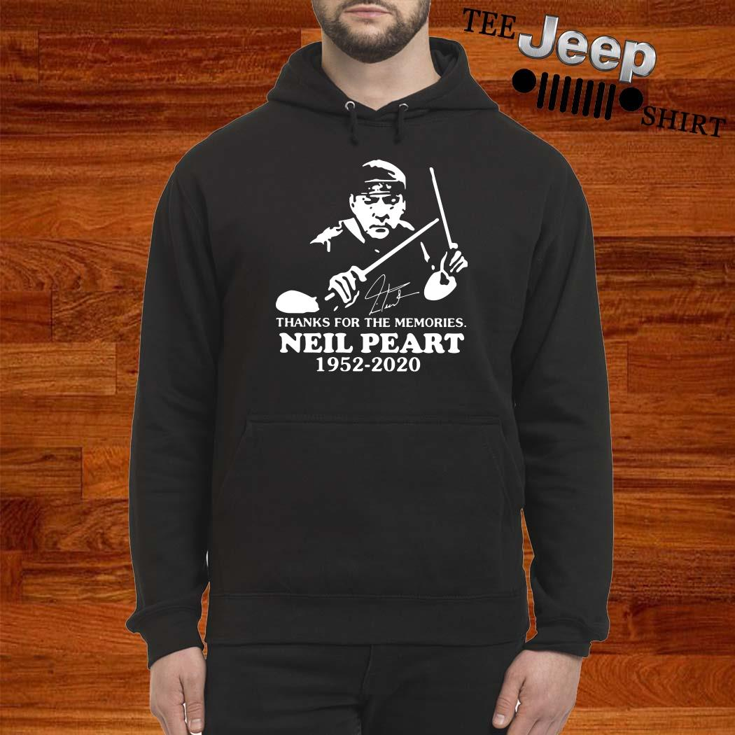 Neil Peart Thanks For The Memories 1952 2020 Signature Hoodie