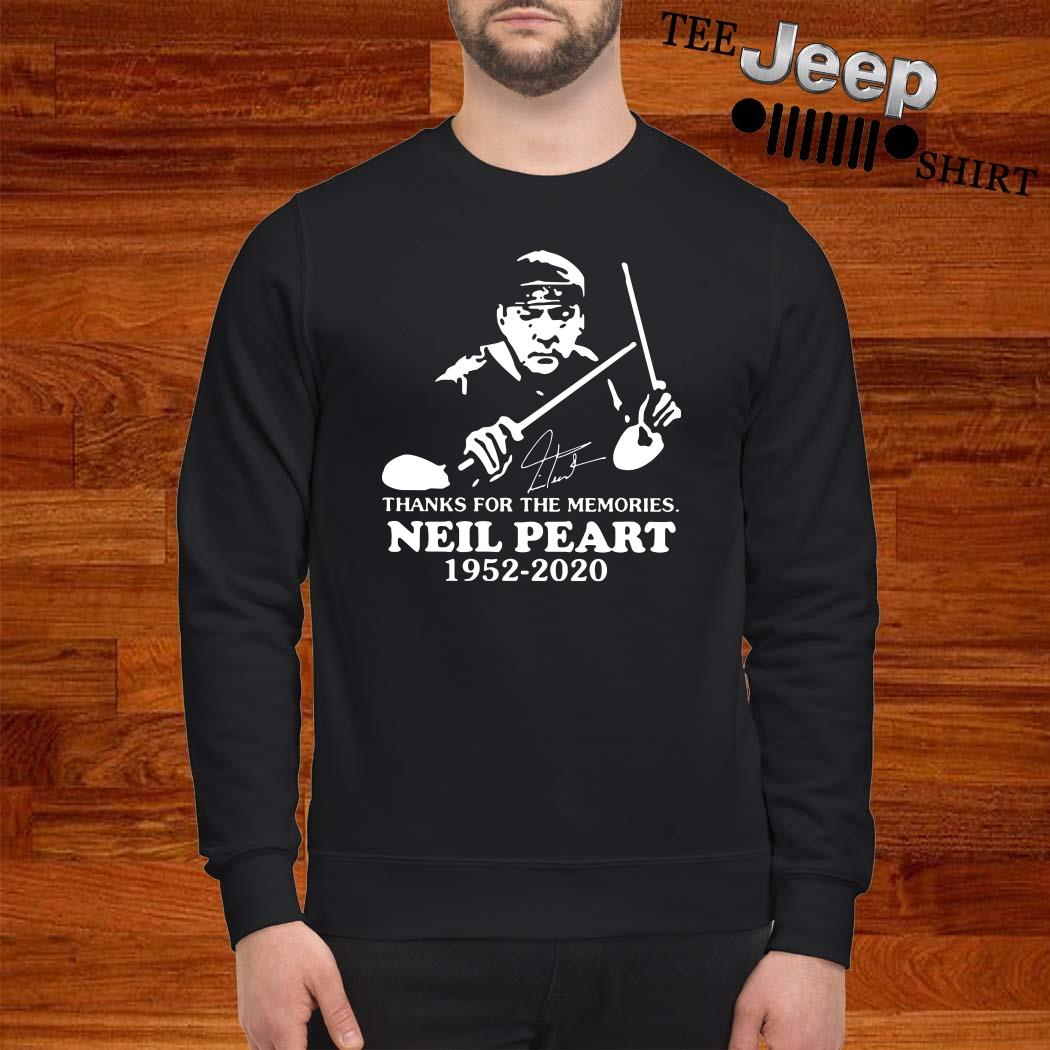 Neil Peart Thanks For The Memories 1952 2020 Signature Sweatshirt