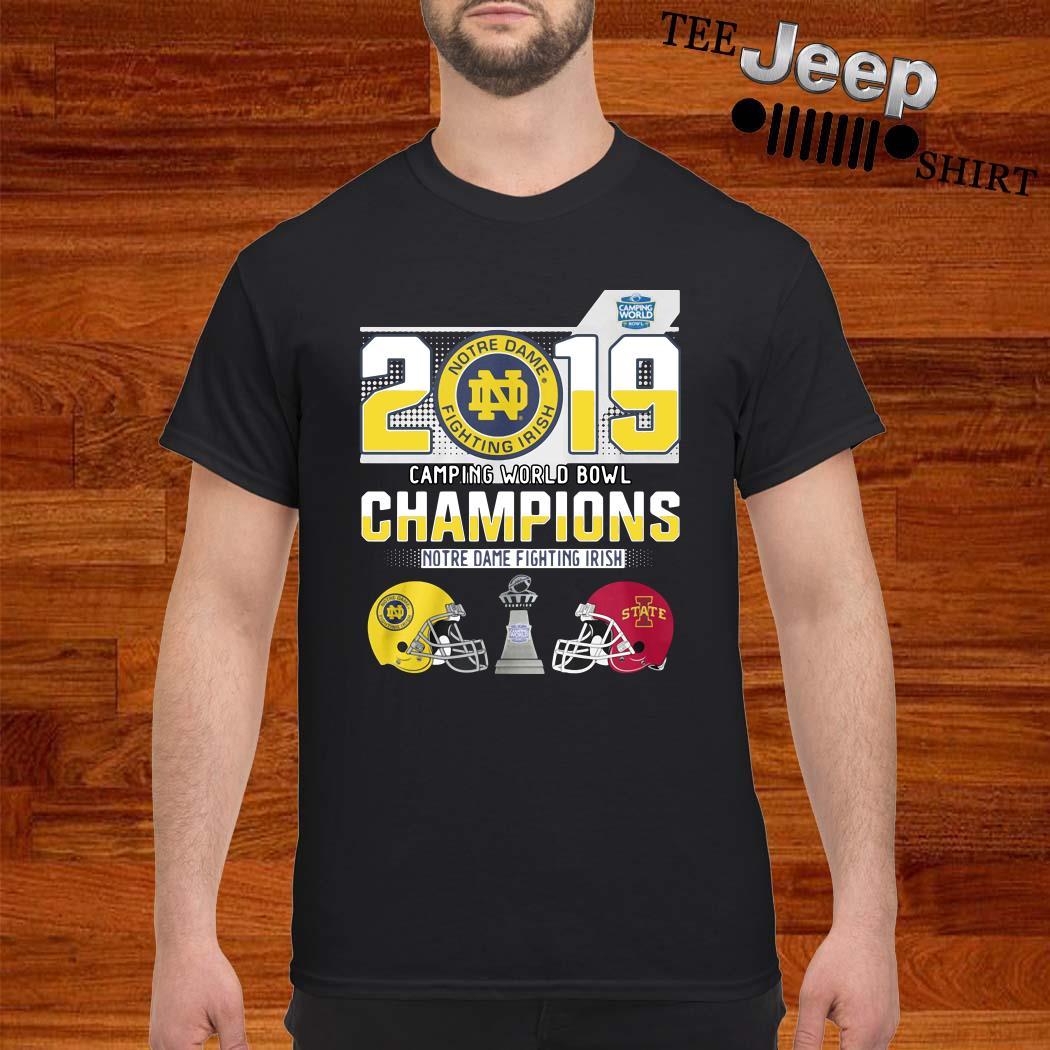 Notre Dame Fighting Irish 2019 Camping World Bowl Champions Shirt