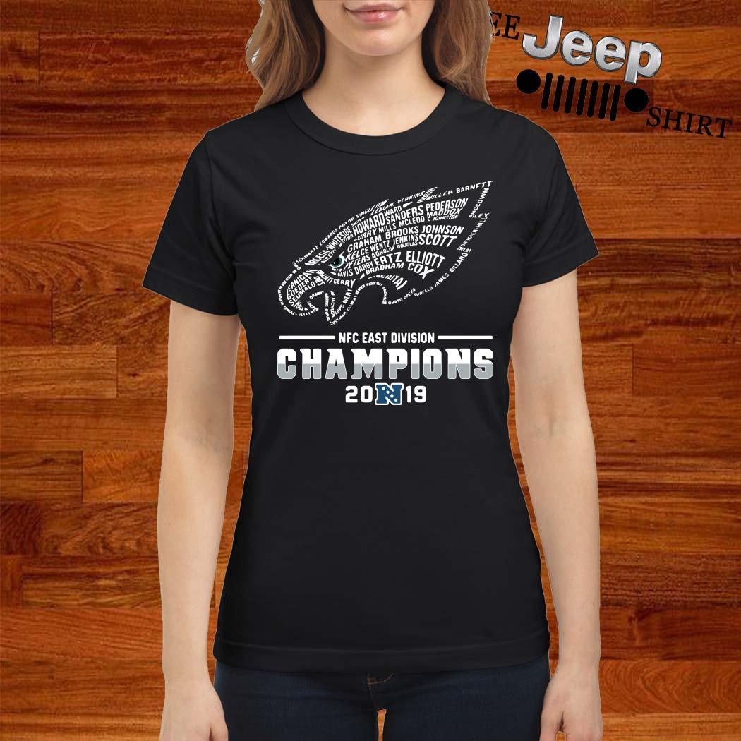 Philadelphia Eagles NFC East Division Champions 2019 Ladies Shirt