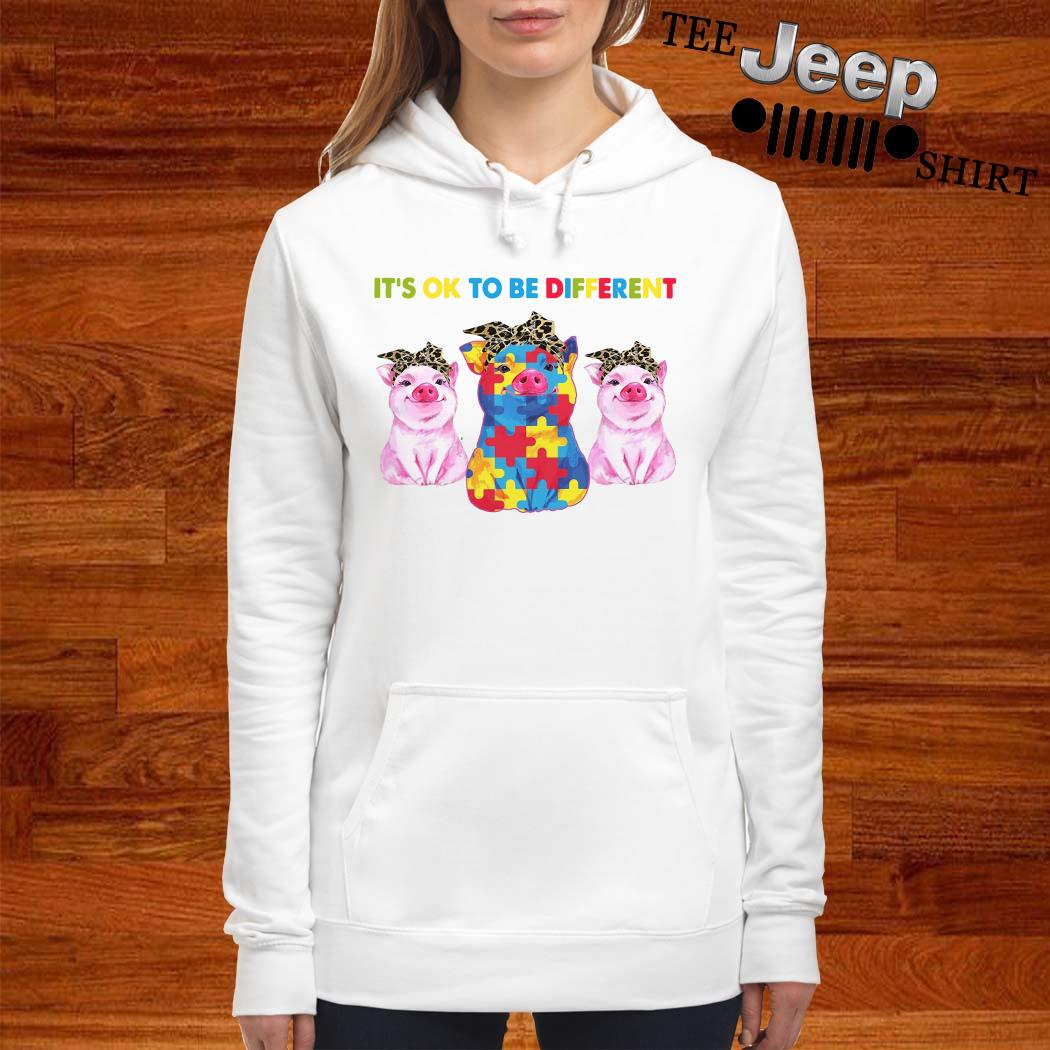 Pigs Autism It's Ok To Be Different Hoodie