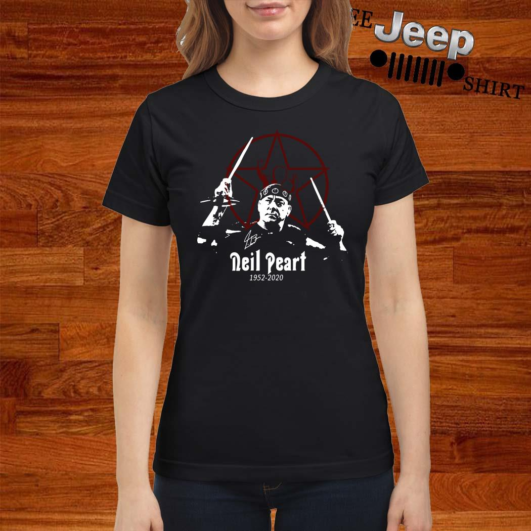 R.I.P Neil Peart 1952 2020 Signature Ladies Shirt