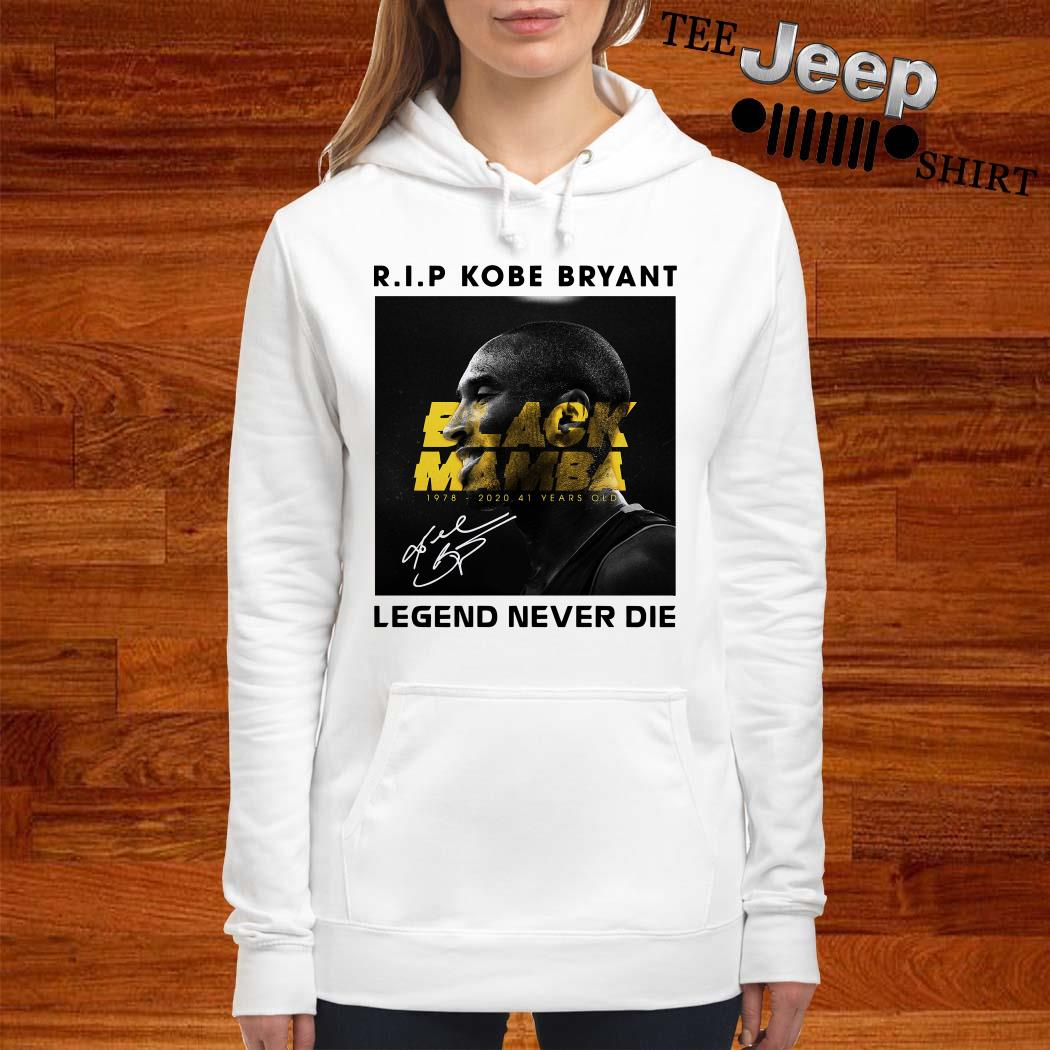 RIP Kobe Bryant Black Mamba Legend Never Die Signature Women Hoodie