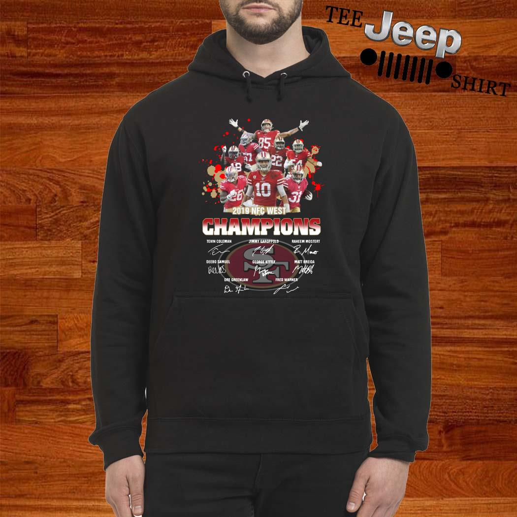 San Francisco 49ers 2019 NFC West Champions Signature Hoodie