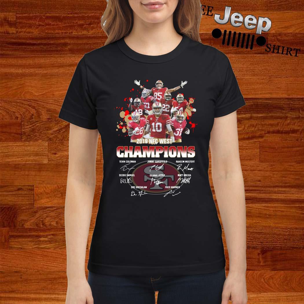 San Francisco 49ers 2019 NFC West Champions Signature Ladies Shirt