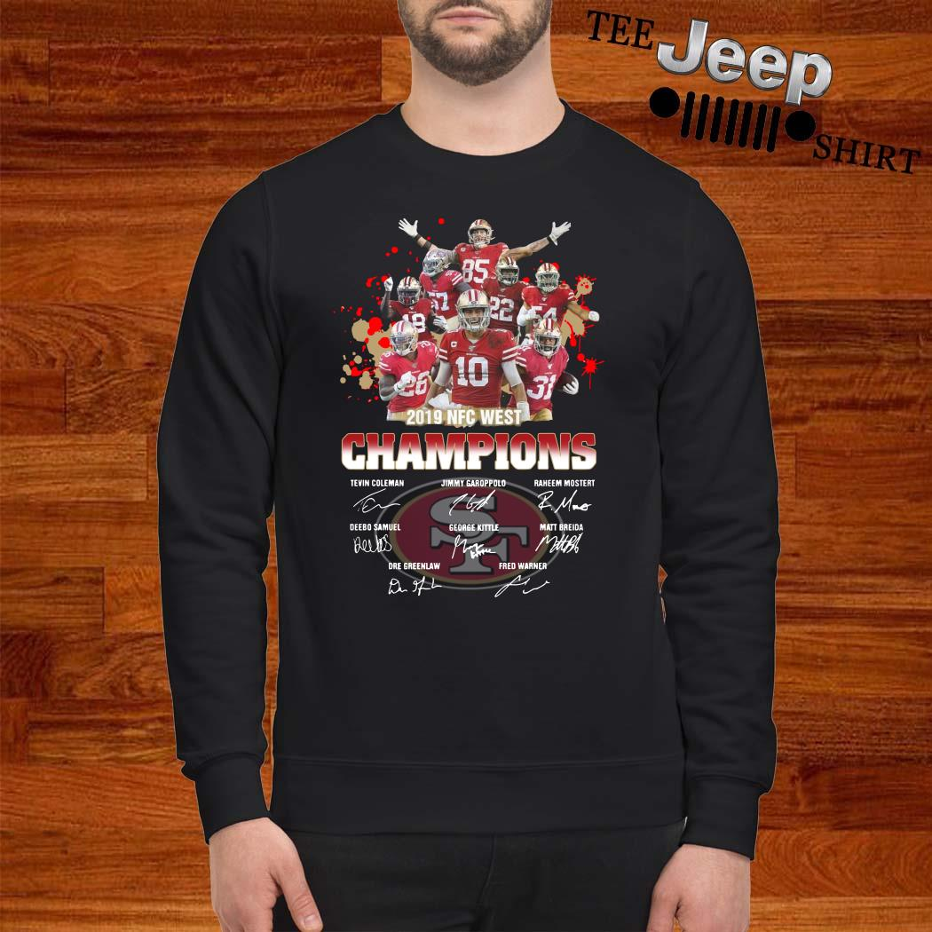 San Francisco 49ers 2019 NFC West Champions Signature Sweatshirt