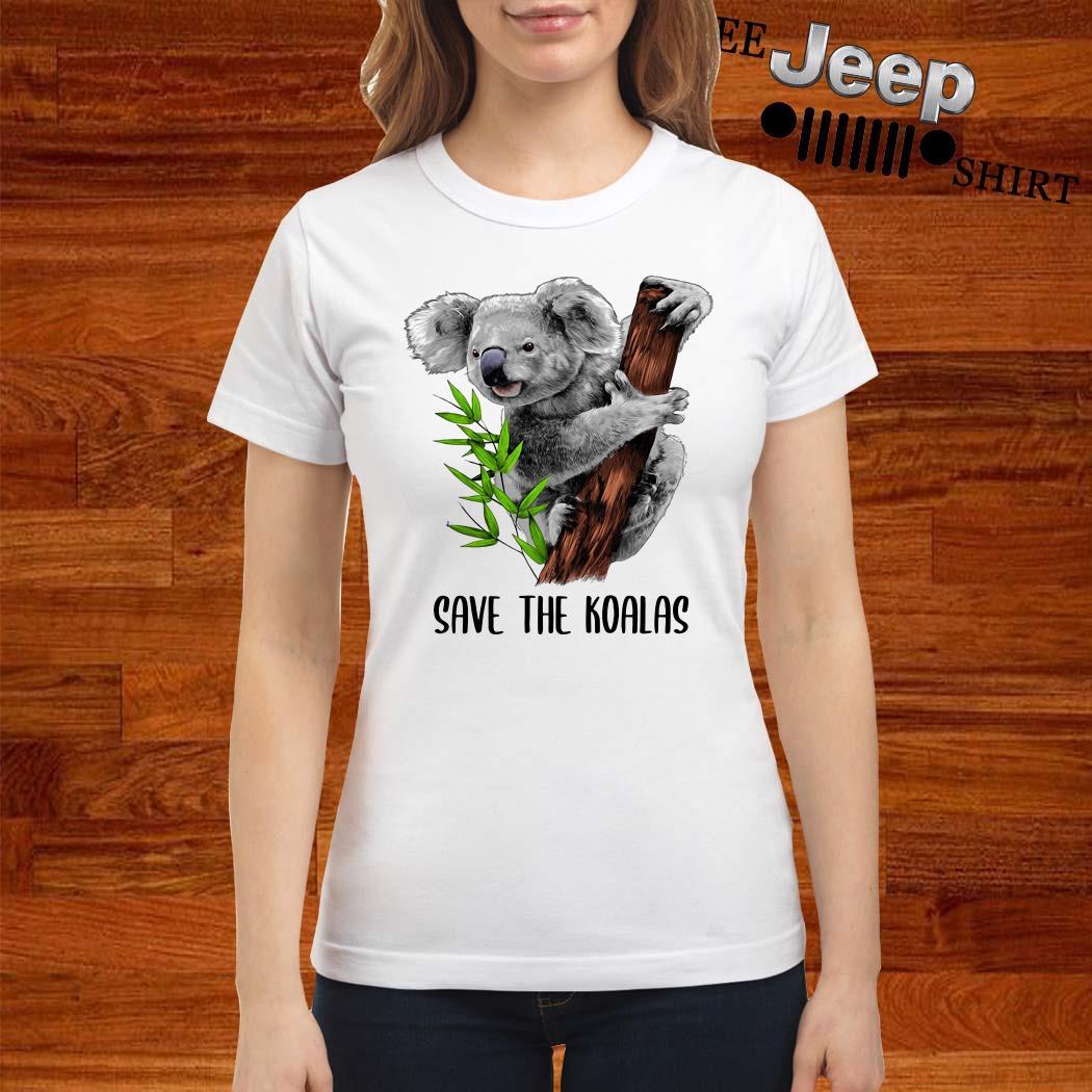 Save The Koalas Ladies Shirt