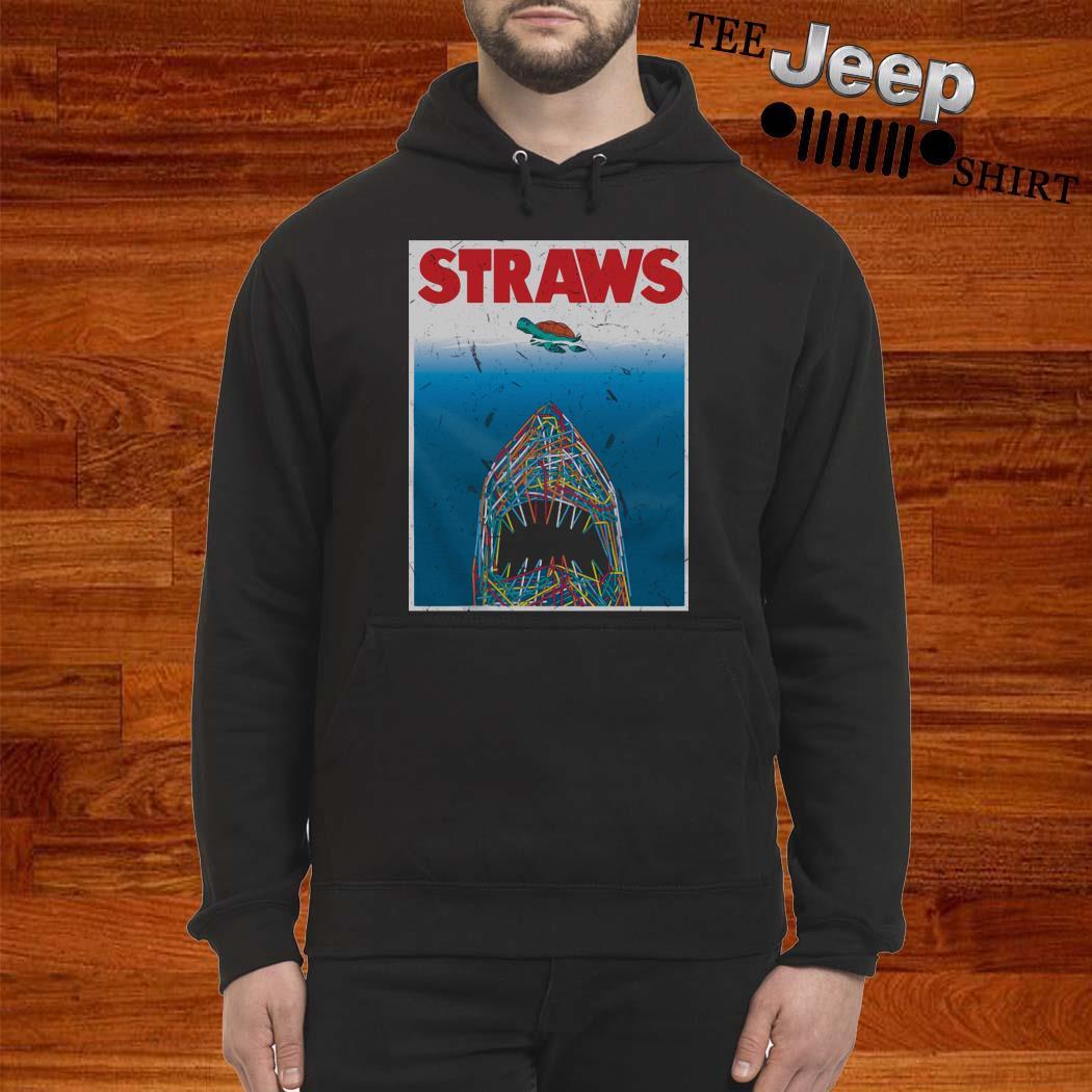 Shark Plastic Straws Save The Turtle Hoodie