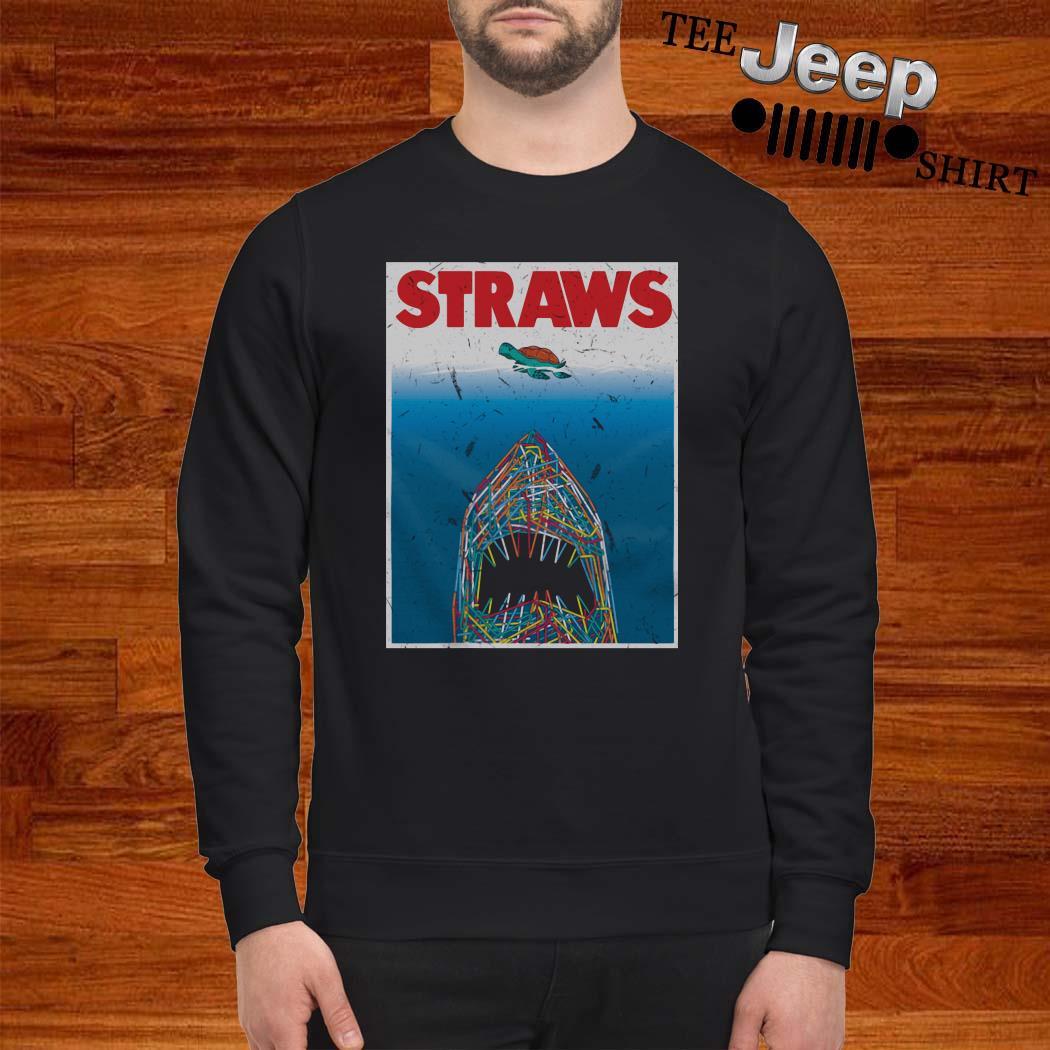 Shark Plastic Straws Save The Turtle Sweatshirt