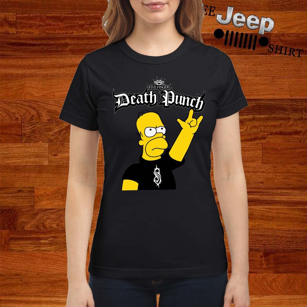 The Simpsons Five Finger Death Punch Ladies Shirt