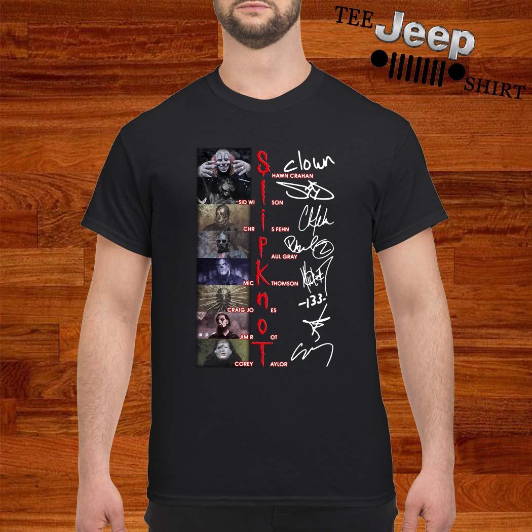 Slipknot Shawn Crahan Sid Wilson Chris Fehn Paul Gray Mick Thomson Signature Shirt