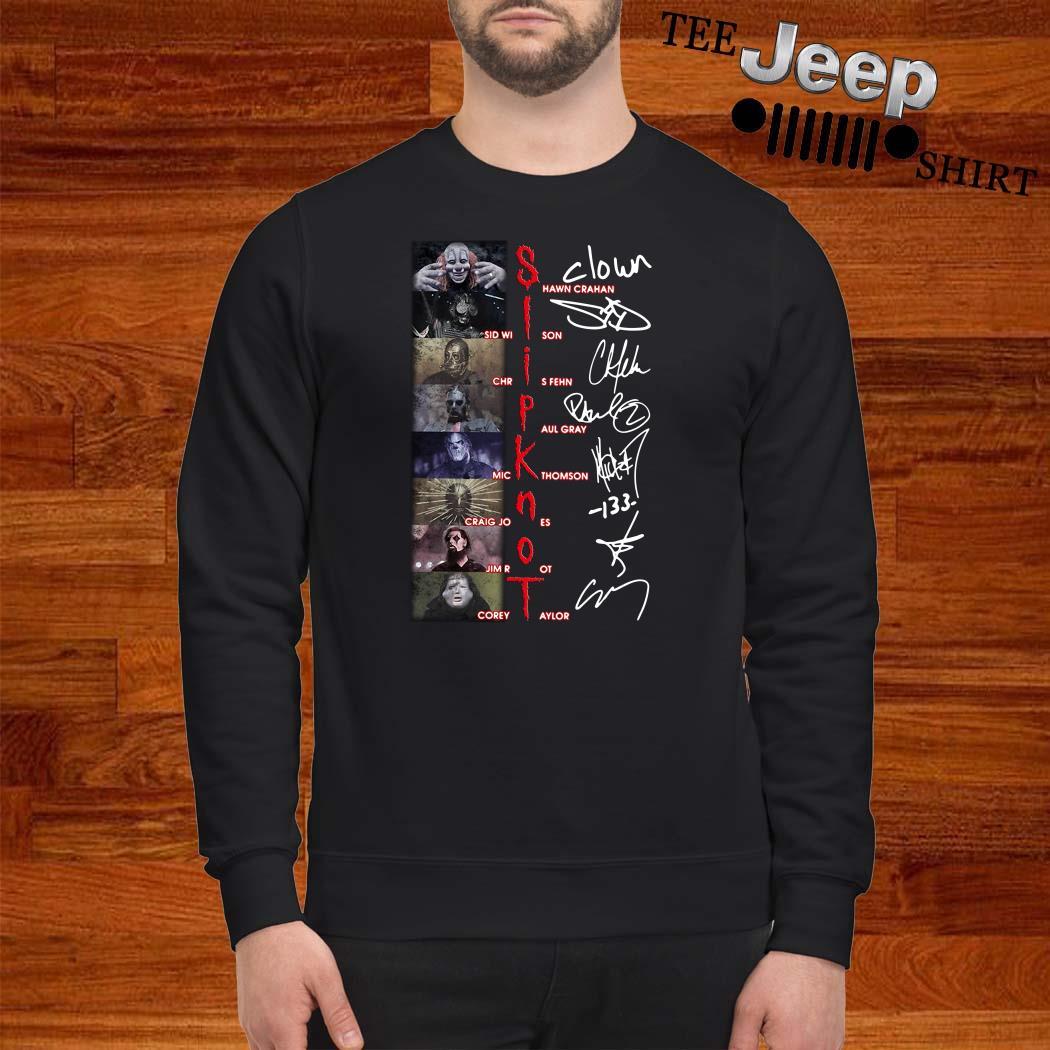 Slipknot Shawn Crahan Sid Wilson Chris Fehn Paul Gray Mick Thomson Signature Sweatshirt