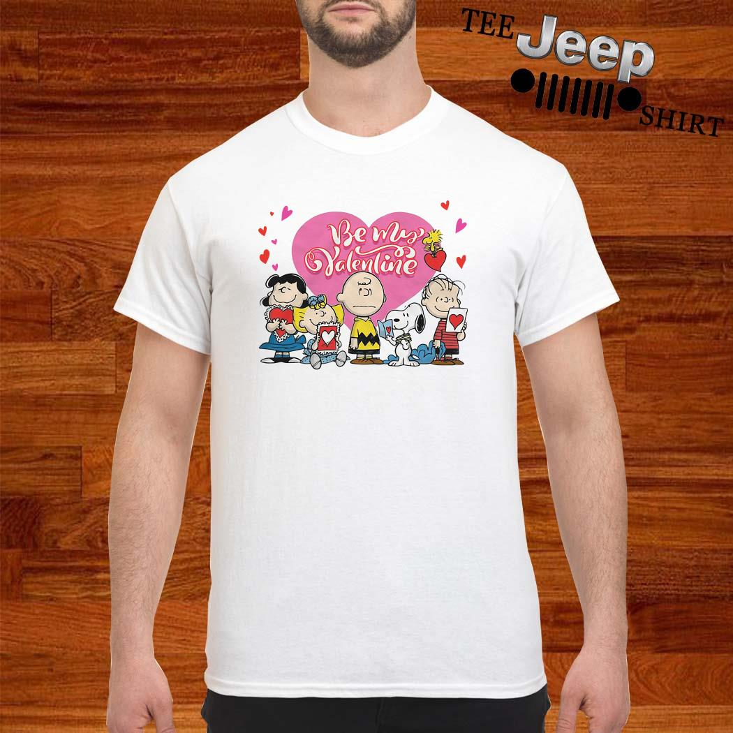 Snoopy Charlie Brown And Woodstock Be My Valentine Shirt