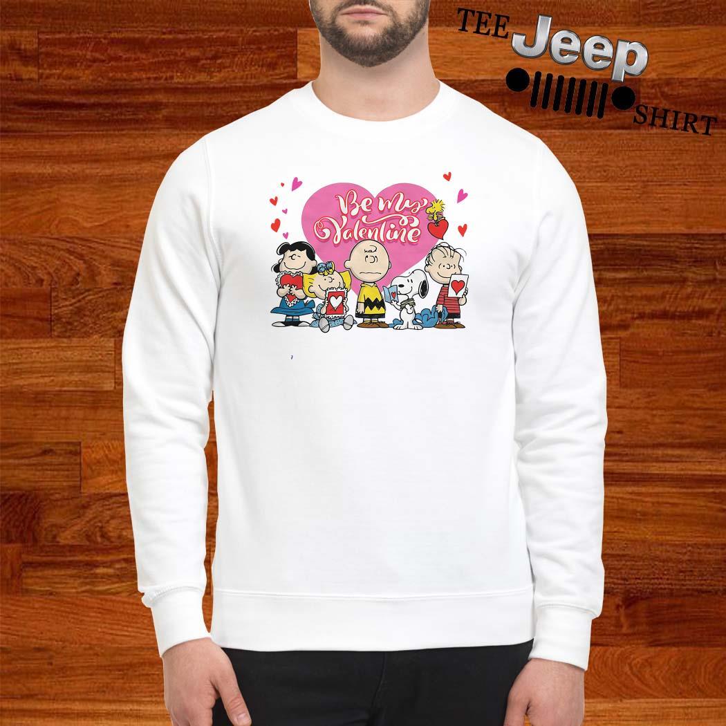 Snoopy Charlie Brown And Woodstock Be My Valentine Sweatshirt