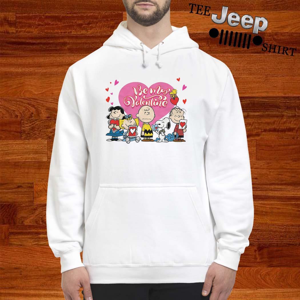 Snoopy Charlie Brown And Woodstock Be My Valentine Unisex Hoodie