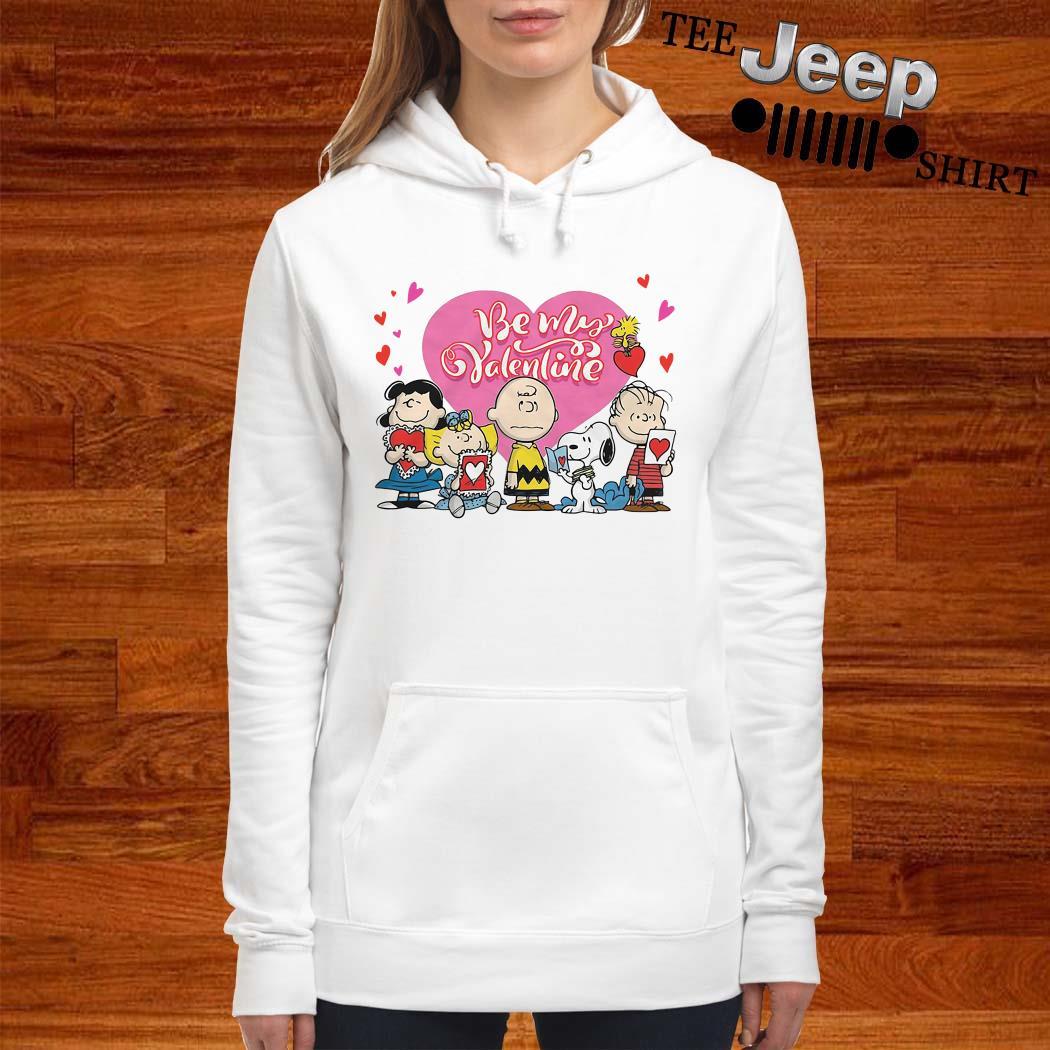 Snoopy Charlie Brown And Woodstock Be My Valentine Women Hoodie