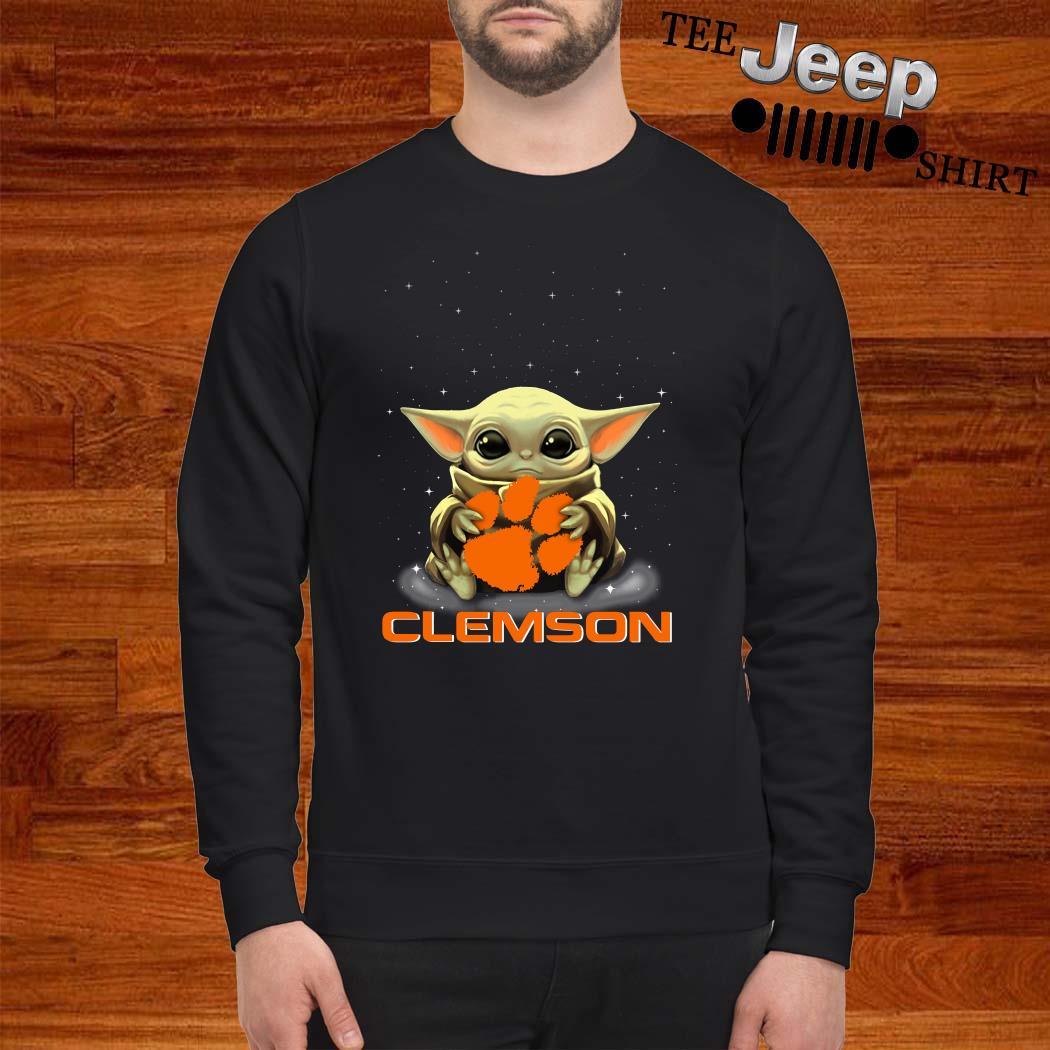 Star Wars Baby Yoda Hug Clemson Tigers Sweatshirt