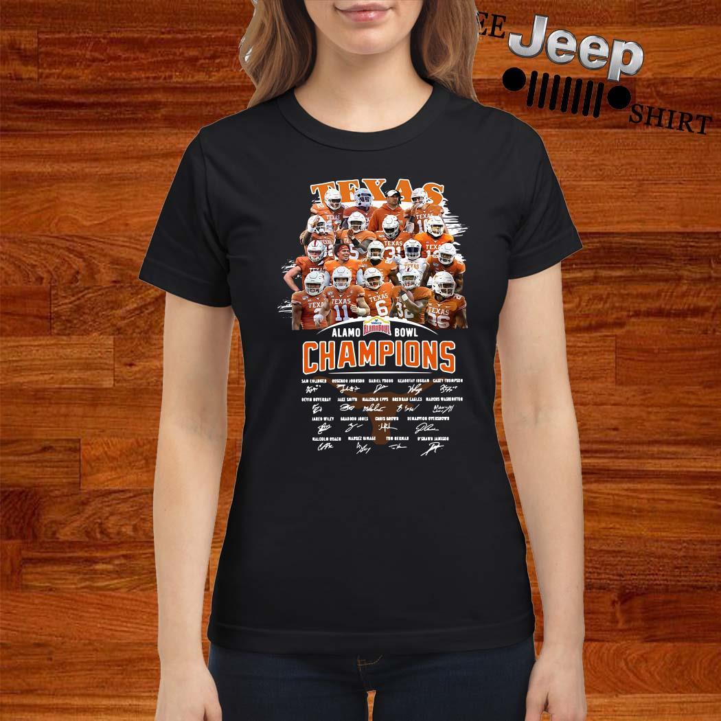 Texas Alamo Bowl Champions Signature Ladies Shirt