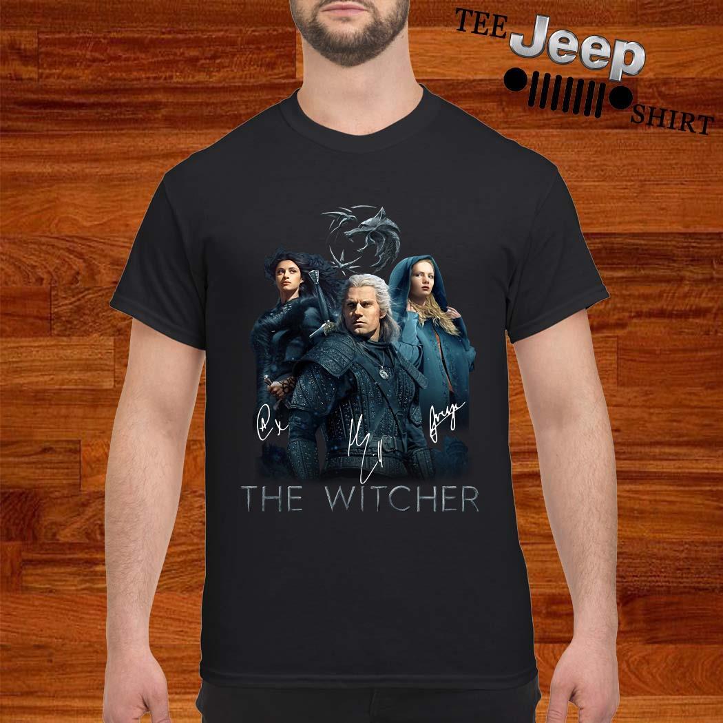 The Witcher Geralt Yennefer And Ciri Signature Shirt