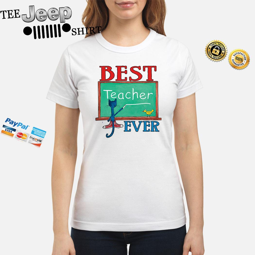 Cat Best Teacher Ever Ladies Shirt