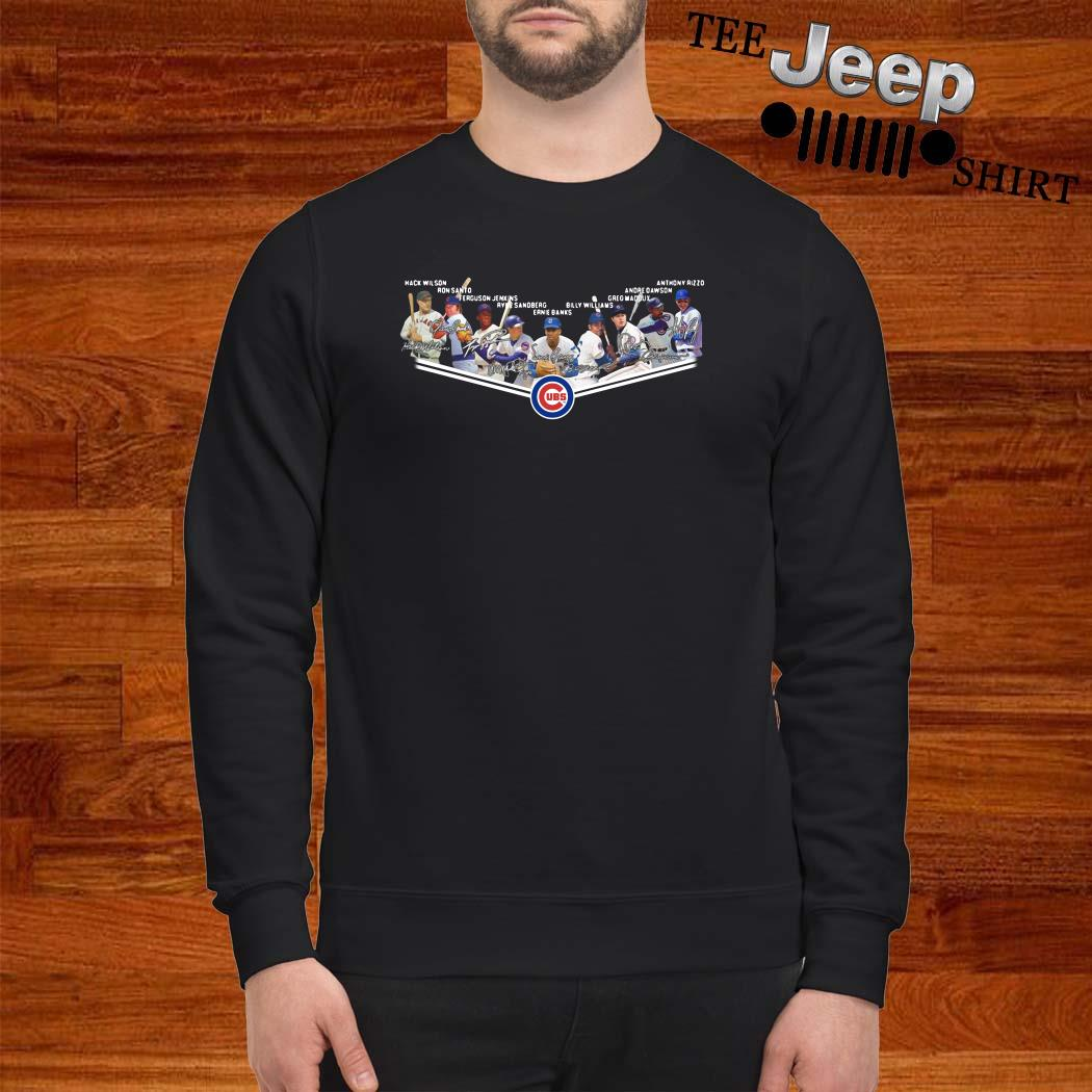 Chicago Cubs Players Team Signature Sweatshirt