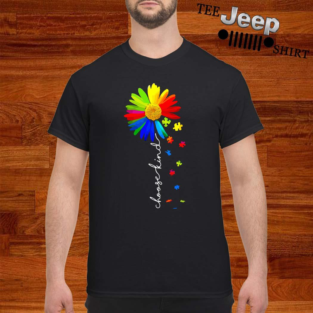 Choose Kind Flower Autism Awareness Shirt
