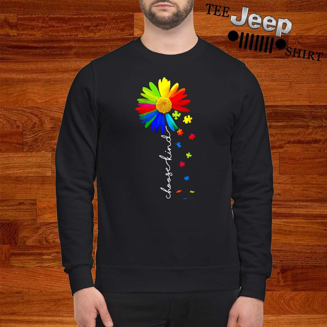 Choose Kind Flower Autism Awareness Sweatshirt