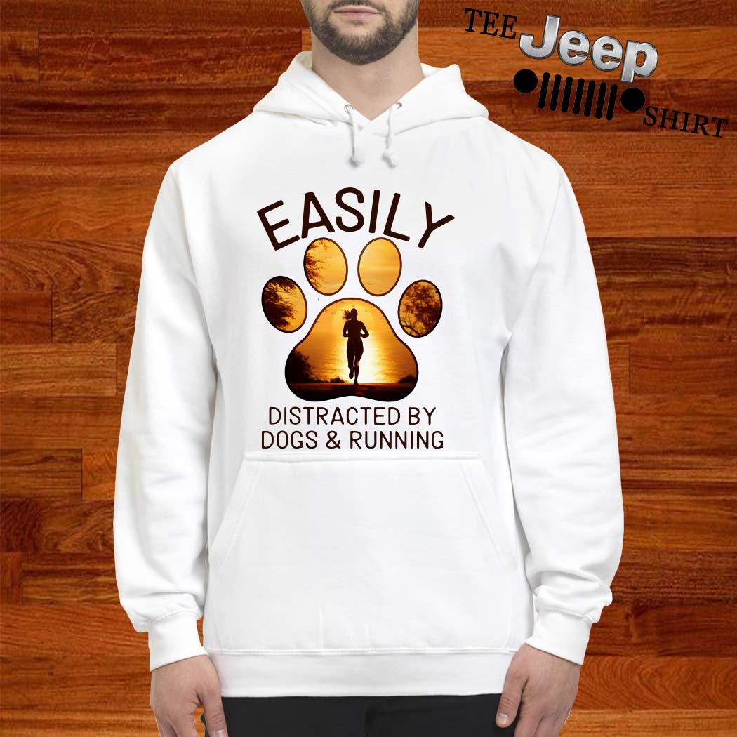 Easily Distracted By Dogs And Running Hoodie