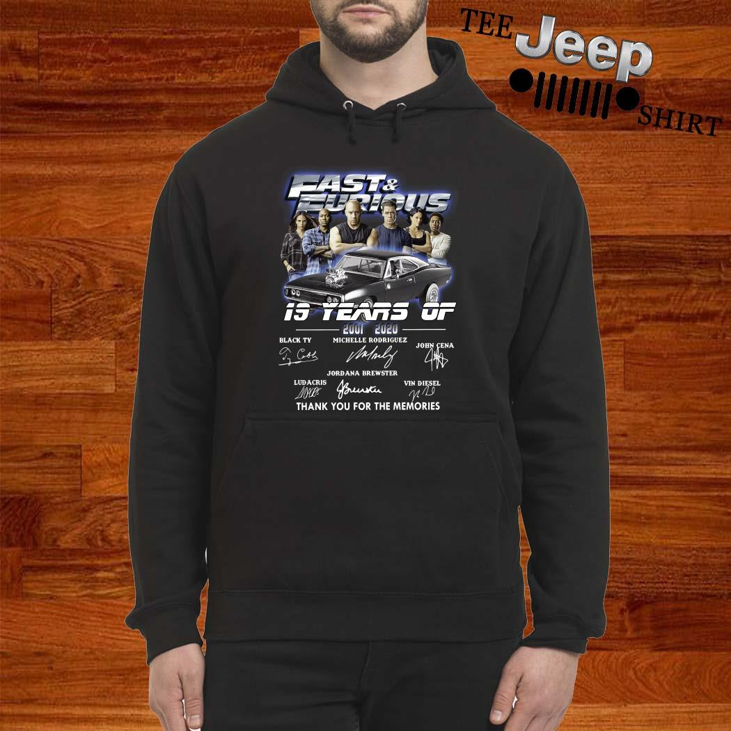 Fast And Furious 19 Years Of 2001 2020 Thank You For The Memories Hoodie