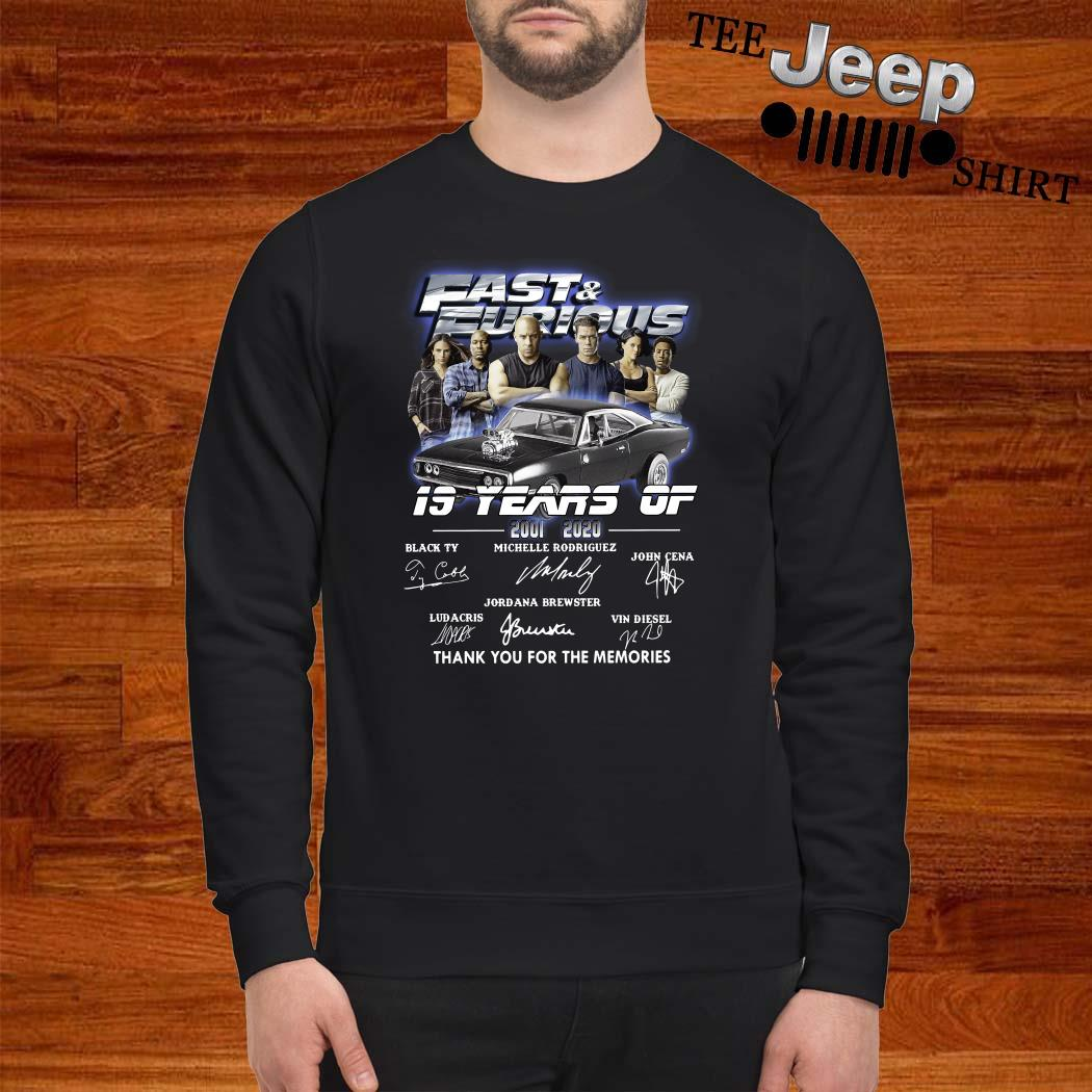 Fast And Furious 19 Years Of 2001 2020 Thank You For The Memories Sweatshirt