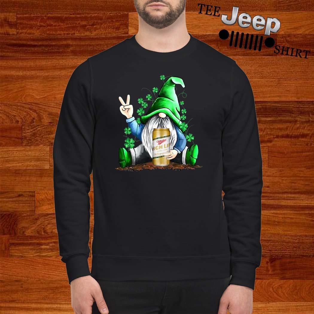 Gnomes Lucky Hug Miller High Life St Patrick's Day Sweatshirt
