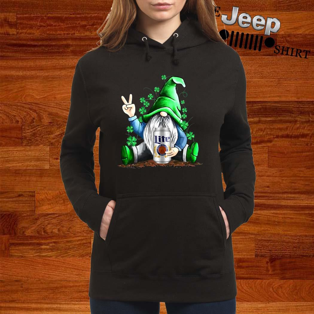 Gnomes Lucky Hug Miller Lite St Patrick's Day Hoodie