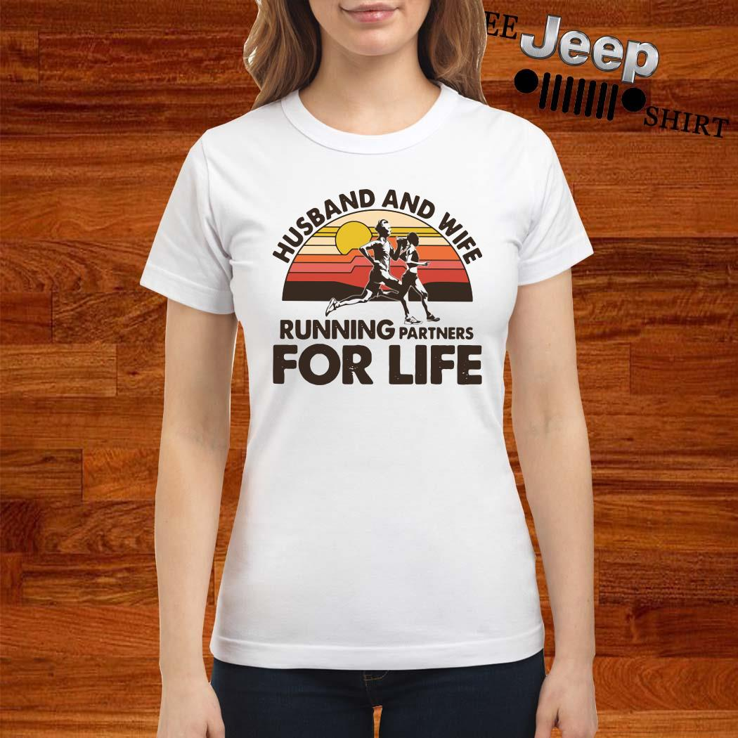 Husband And Wife Running Partners For Life Vintage Ladies Shirt
